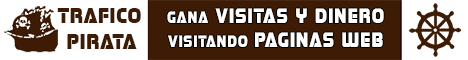 Trafico Pirata - Gana visitas y dinero visitando sitios web de otros usuarios